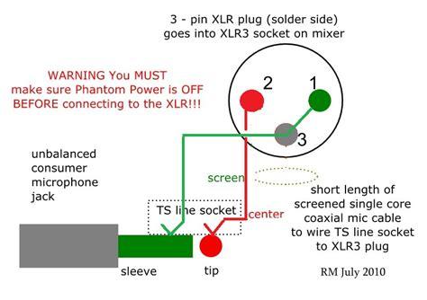 How Wire Unbalanced Microphone Balanced Xlr