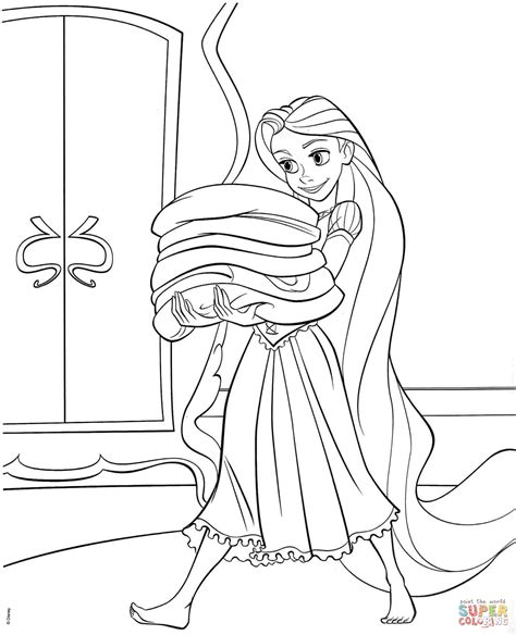 tangled rapunzel coloring page  printable coloring pages