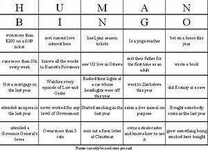 25 best ideas about human bingo on pinterest meeting With human bingo template