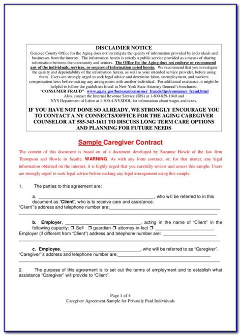 caregiver contract  girlinathunderbolt