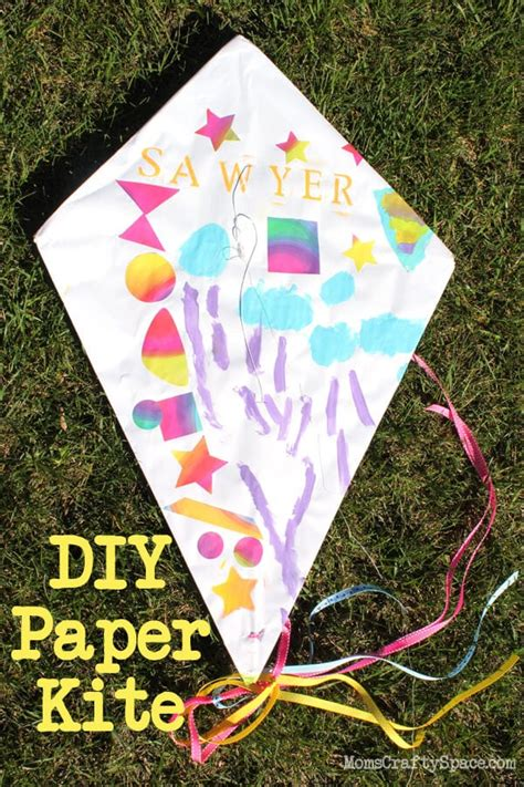 kids craft diy paper kite happiness  homemade