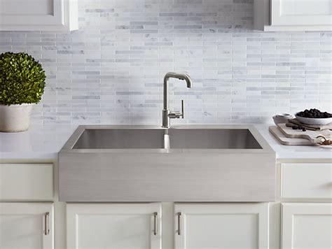 vault top mount kitchen sink  single faucet hole kohler