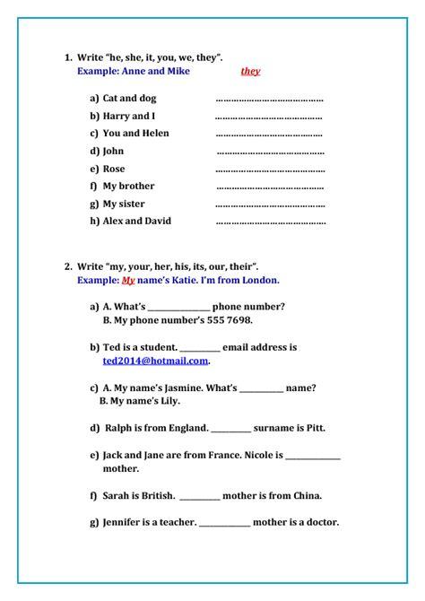 119 free possessive pronouns worksheets teach possessive