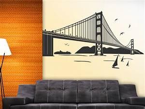 Wandtattoo San Francisco : wandtattoo golden gate bridge san francisco ~ Whattoseeinmadrid.com Haus und Dekorationen