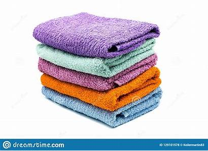 Background Towels Bath Colorful Stack Isolated