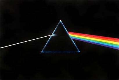 Floyd Moon Side Dark Rainbow Triangle Band