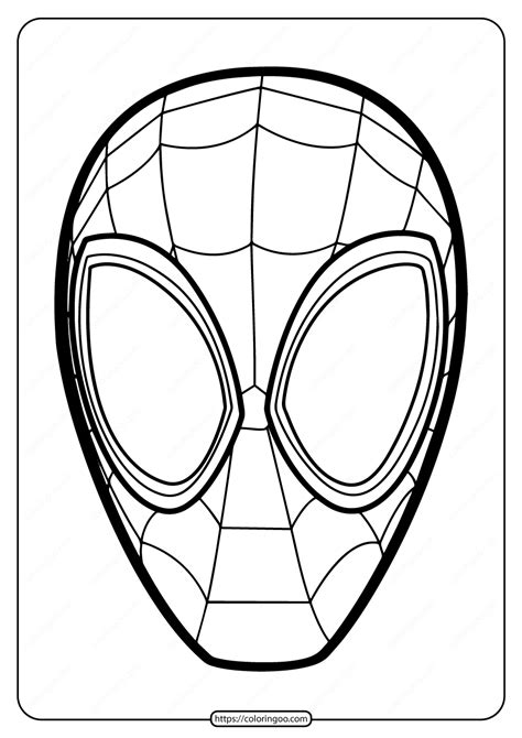 printable spiderman mask  coloring page