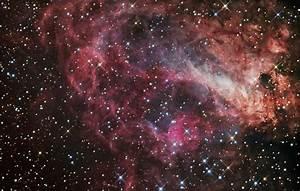 M17, NGC 6618, Swan Nebula- detail