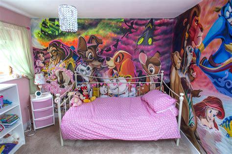 Dad Paints Dream Disney Bedroom To Turn Little Princess