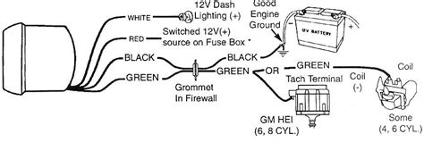 Wiring Diagram For Tachometer by Sun Tach 2 Wiring Diagram Wiring Diagram And