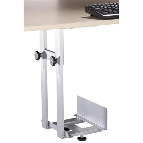 under desk computer tower holder silver from conrad