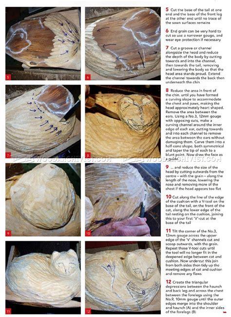 carving cat wood carving patterns woodarchivist