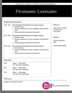 free resume layout 2015 free resume templates pack 2 6 sles free resume templates