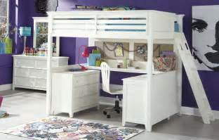 Full Size Loft Bunk Bed with Desk
