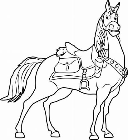 Maximus Coloring Pages Tangled Cartoon Rapunzel Cool