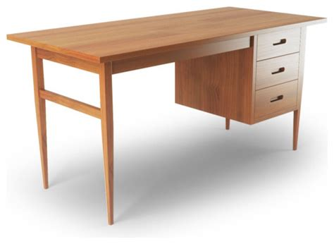 Threshold Caign Desk Midtone by Blair Desk Modern Desks Writing Bureaus By Thrive