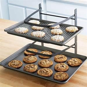 Linden Sweden Baker's 4-Tier Adjustable Metal Cooling Rack ...