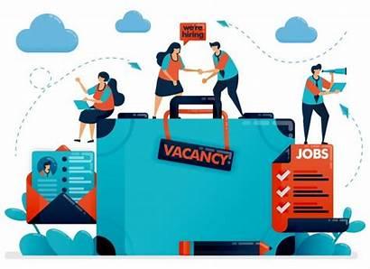 Recruitment Illustration Vector Hiring Cartoon Job Vacancy