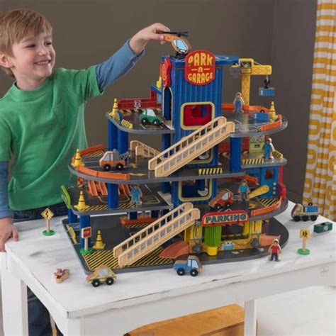 kidkraft child kids deluxe wooden car parking toy play fun