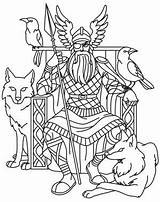 Pages Viking Coloring Norse Gods Odin Mythology Colouring Urbanthreads God Vikings Designs Embroidery Celtic Nordic Goddesses Patterns Adult Drawing Printable sketch template