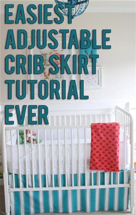 crib skirt pattern tutorial how to make sew an easy diy crib skirt