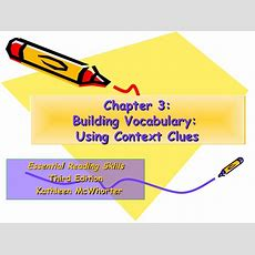 Building Vocabulary Using Context Clues