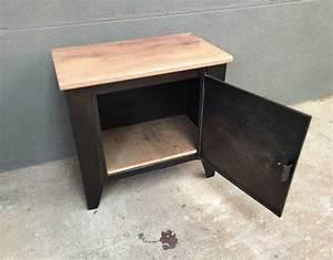 Table De Nuit Metal : table de nuit style industriel bois et m tal petit meuble ~ Teatrodelosmanantiales.com Idées de Décoration