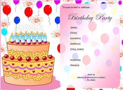 printable birthday invitation templates sample templates