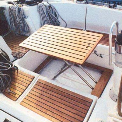Boat Cockpit Grill by Boat Cockpit Table Fold Away Teak Casa Mare