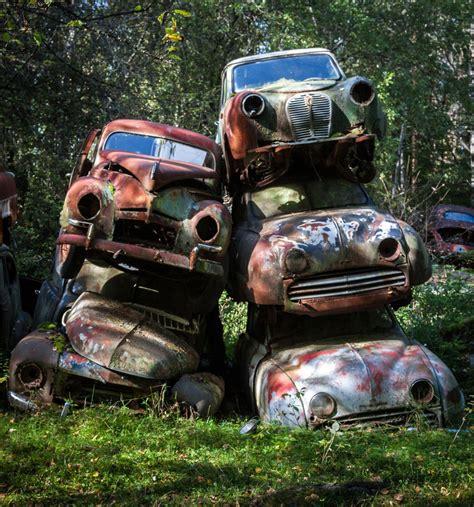 si鑒e de voiture un cimetière de voitures abandonnées en suède adg