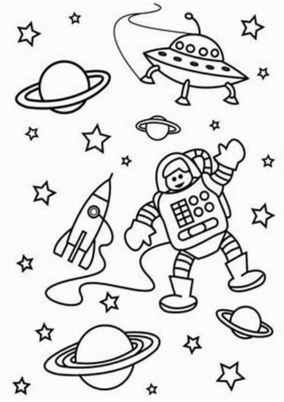 Space Coloring Pages Tulamama Easy
