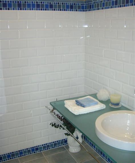 beveled subway tile glossy white size 3 quot x6 quot from classic tile marble inc in ny