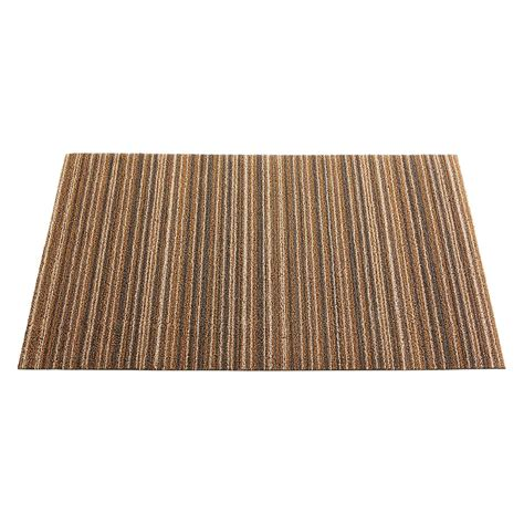 chilewich doormats chilewich latte stripe doormat the container store