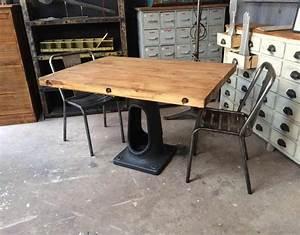 Table A Manger Industrielle : table industrielle pied fonte ~ Melissatoandfro.com Idées de Décoration