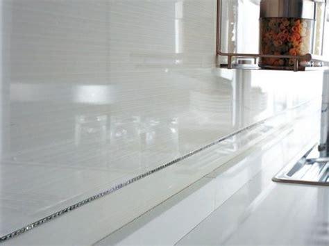 chrome backsplash chrome trim backsplash kitchen pinterest