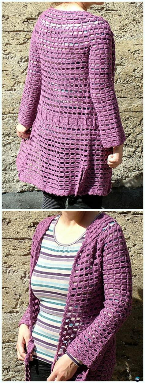 crochet women summer jacket cardigan  patterns
