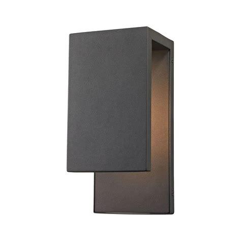 y decor lora 1 light black outdoor wall lighting el0523ib