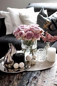 Rosa Deko Wohnzimmer : coffee table decoration romantic cool rosa schwarz deko pinterest wohnzimmer dekoration ~ Frokenaadalensverden.com Haus und Dekorationen