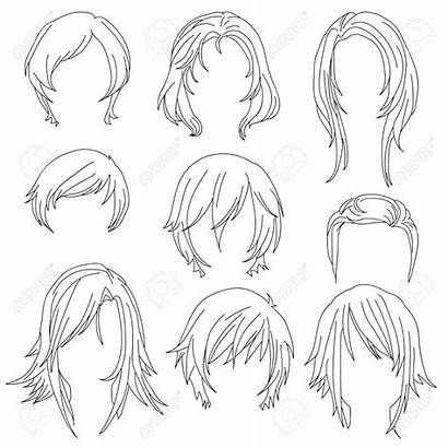 Drawing Female Hairstyles Woman Styling Isolated Getdrawings