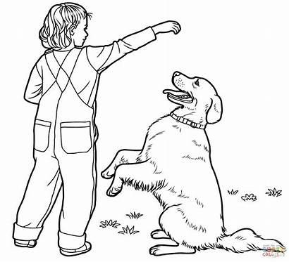 Labrador Coloring Retriever Pages Lab Dog Golden