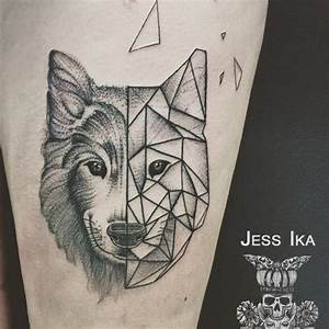 Tatouage Loup Geometrique : loup jessika tattoos tatouage tatouage loup et ~ Melissatoandfro.com Idées de Décoration