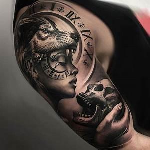 Tatouage Demi Bras Homme : 1001 mod les de tatouage loup pour femmes et hommes tattoo pinterest tattoo tatoo and ~ Melissatoandfro.com Idées de Décoration