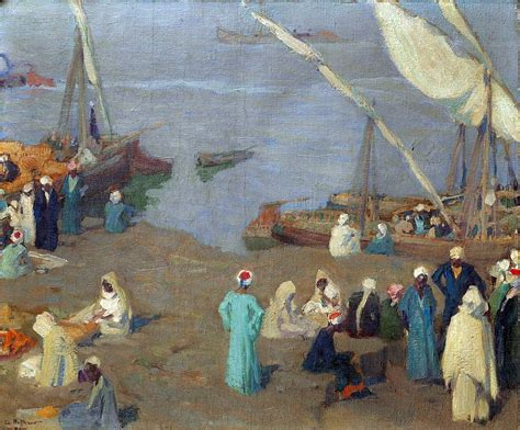 Boat Canvas Gibsons Bc by View Of The Nile By Charles Hoffbauer 1875 1957