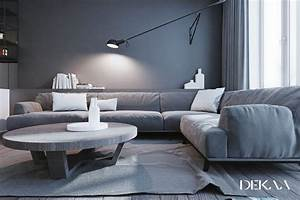 White Grey Interior Design In The Modern Minimalist Style