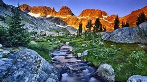 Mountains, Landscapes, Nature, California, Streams, Land