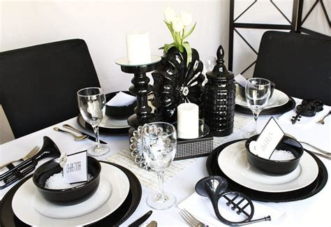 black and white party table centerpieces ideas for a black white party celebrations at home