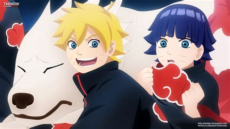 Boruto, Himawari & Akamaru Hd Wallpaper