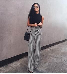 Striped palazo pants https://poshatplay.wordpress.com/2016 ...