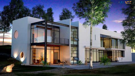 3d exterior rendering design for home villa ronen