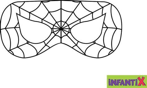 Molde da Máscara do Homem Aranha Link Infantix